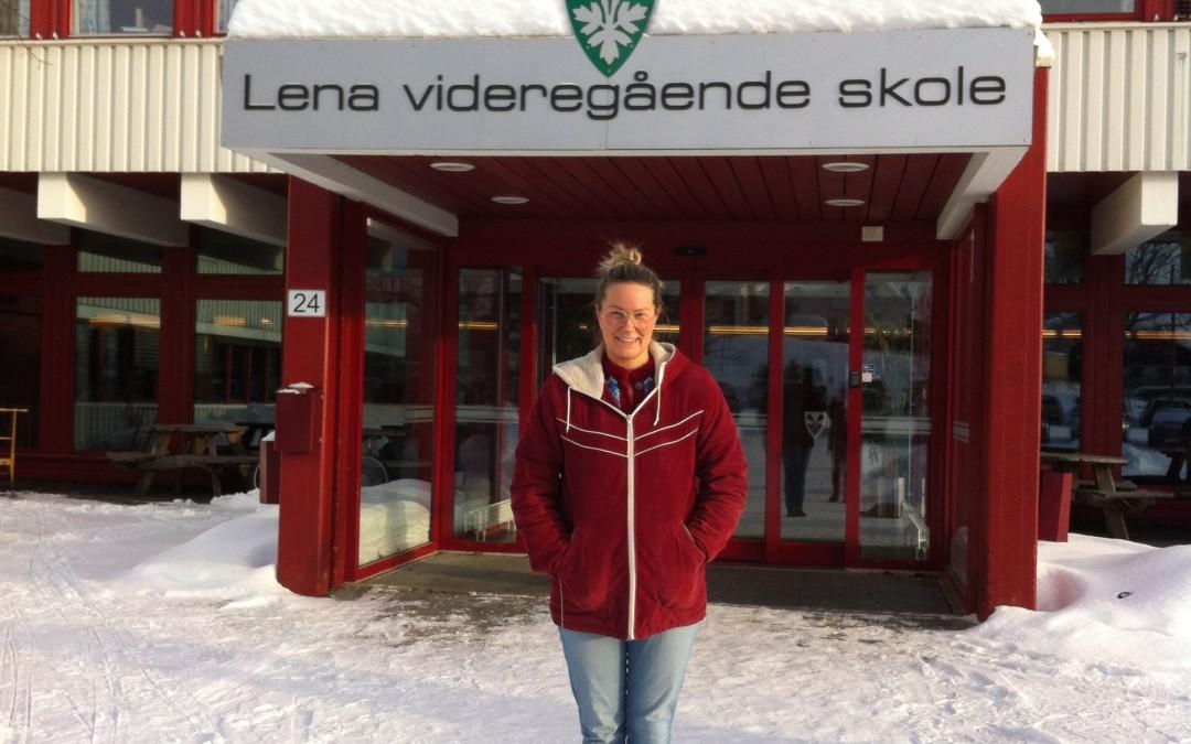 Forfatter møtte VG1 Teknikk og industriell produksjon på Lena-Valle